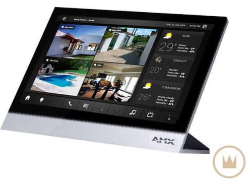 панель управления amx системой безопасности умного дома