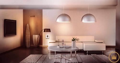 система управления светом в гостинной