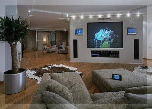 оборудование для системы умный дом в гостинной