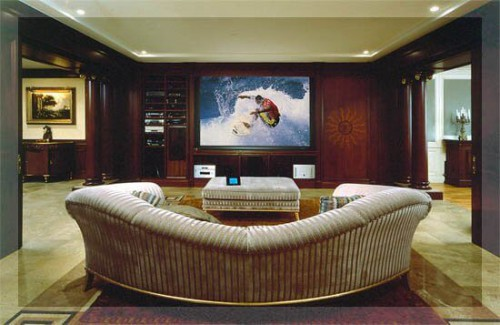 домашний кинотеатр в аппартаментах от элит технолоджи