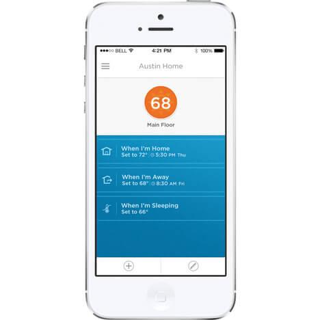 мобильного приложение умного термостата Liric