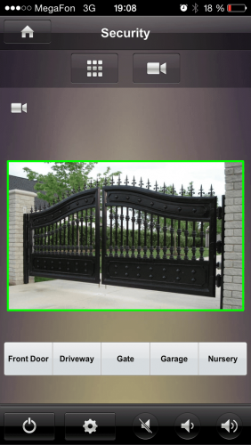 система управления воротами умного дома с айфон